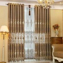 European style elegant water soluble embroidery curtain sitting room furniture curtain luxurious European gauze shade adornment