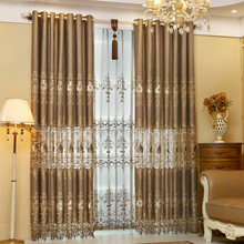 European-style elegant water soluble embroidery curtain sitting room furniture curtain luxurious European gauze shade adornment