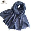 New Style Winter Knitted Plaid Scarf and Wrap Women Men Woolen Scarf for Winter Soft Warm Knitting Scarves and Pashmina