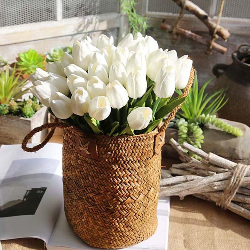 10 stks / partij nep bloemen tulp mini tulp bloem kunstmatige voor - Feestversiering en feestartikelen