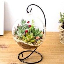 Домашний декор DIY прозрачный круглый шар гидропонное растение цветок висячая стеклянная ваза контейнер домашний садовый декор Прямая поставка