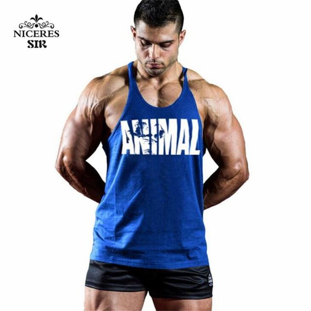a0d3c34fac3b96 Animal Gyms Tank Top Men Workout Clothing Bodybuilding Stringer Men Muscle  Vests Cotton Y back Singlets