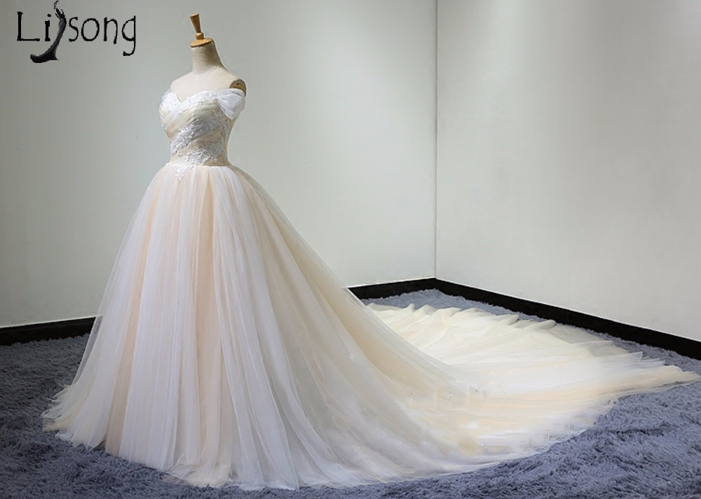 Zwei getönten Erröten Rosa Tüll Hochzeitskleid Einzigartige Brides ...