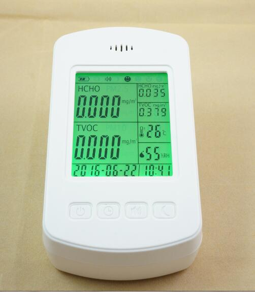 high precision Indoor air quality HCHO monitor digital indoor air quality carbon dioxide meter temperature rh humidity twa stel display 99 points made in taiwan co2 monitor