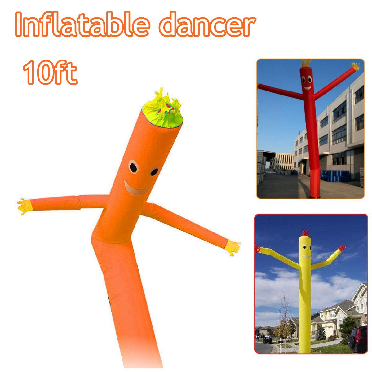 10ft/3m Wind Dance r Tube Man Cartoon Inflatable Dancing Air Puppet Out Door Air Sky Dancing Man For Advertising inflatable sky dancing tube man ghost chef outdoor waving air dancing man for advertising celebration without fan blower
