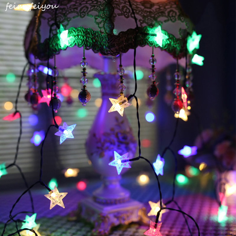 Battery Operated Outdoor Christmas Trees: Feimefeiyou 1M2M 10/20LEDs Battery Operated String Fairy