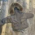 Invierno de los niños ropa de niños ropa de abrigo acolchado abrigo grande de piel de mapache verdadero niñas parkas capa gruesa chaqueta de los muchachos caliente abrigos DQ184