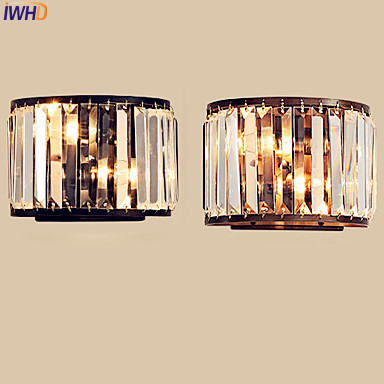 IWHD Modern Crystal LED Wall Light Fixtures Bedroom Beside Lamp Cristal LED Wall Lights For Home Sconce Arandela Luminaire iwhd modern crystal led wall light fixtures bedroom beside lamp cristal led wall lights for home sconce arandela luminaire
