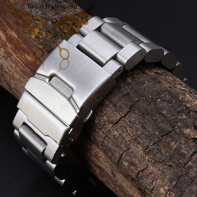 22mm 24mm 26mm New Mens high Brushed Heavy Pure Solid 316L Stainless Steel Watch BANDS Bracelets