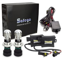 Safego Bixenon H4 HID Kit Bi Xenon Headlight Bulbs DC 35W 55W H4 3 HID Kit Hi Lo 12V BI XENON H4 6000K 8000K 4300K 5000K White
