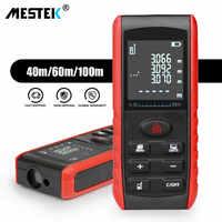 MESTEK laser distance meter 40M 60M 80M 100M rangefinder trena laser tape range finder build measure device ruler test tool