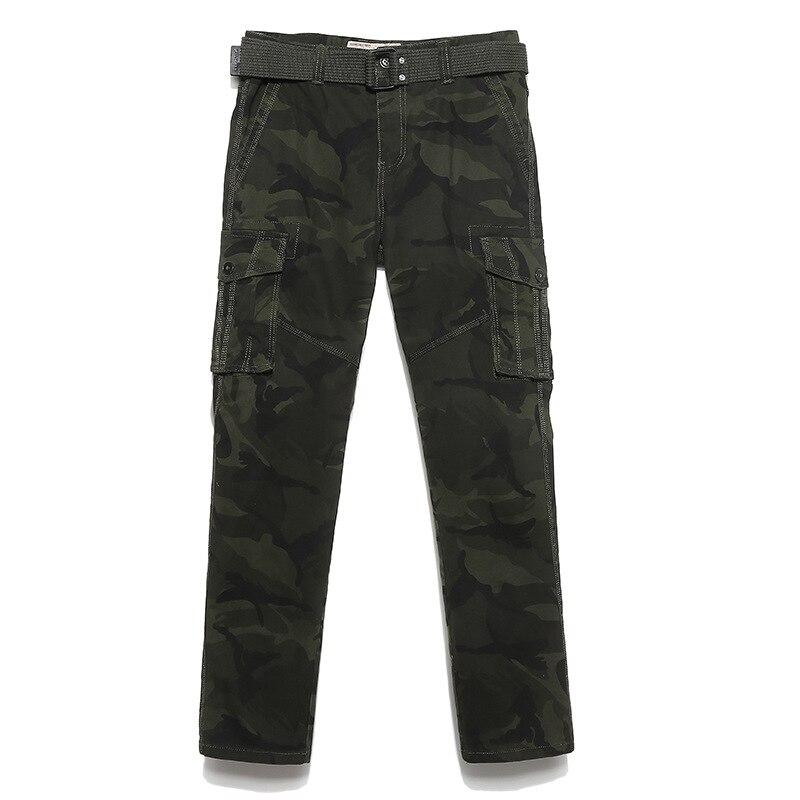 2018 Cargo Hosen Männer Arbeit Hose Multi Tasche Armee Thermische Pantalon Mens Military Camouflage Hosen Baumwolle Hosen Für Mann Kein Gürtel Kunden Zuerst
