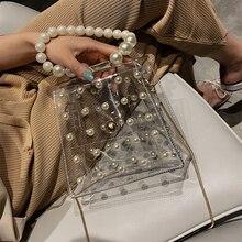 Bolsos Mujer Bolsas Feminina Summer Small Bag Handbags New 2019 Chain Shoulder Messenger Transparent Portable Pearl Wild Ins