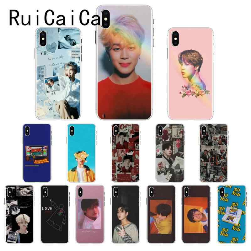 Ruicaica KPOP fashion Jimin Suga RM DIY Luxury Case for iPhone X XS MAX 6 6S 7 7plus 8 8Plus 5 5S XR 10 Cover