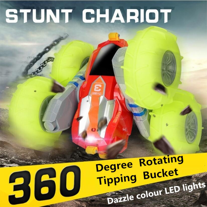 Electric Double Side Deformation Off-Road Remote Control Car 1:16 Pneumatic Tyre 360 Degree Rotation Skip Stunt RC Car with Pump