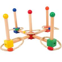 Wooden Montessori Infant Toys Montessori Hitch Up Exercise Preschool Educational Learning Toys Juguetes Brinquedos MG2464H