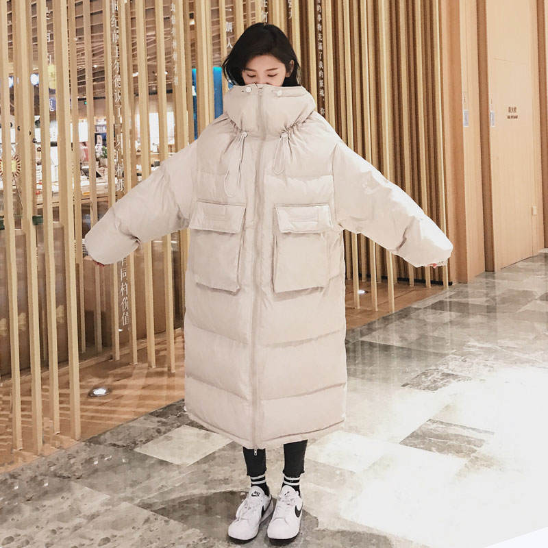 Down Cotton Women Winter Jacket BF Style Stand Collar Long Parka Women Winter Coat Plus Size Oversized Coats Female Jacket C5114