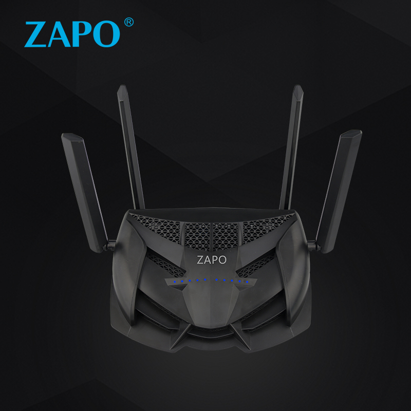 Powerful ZAPO 2.4G/5G Top Chip AC 2600Mbps Wifi Router Wireless 16MB Flash High Gain Antenna USB Storage Repeater Long Distance-in Network Cards from Computer & Office