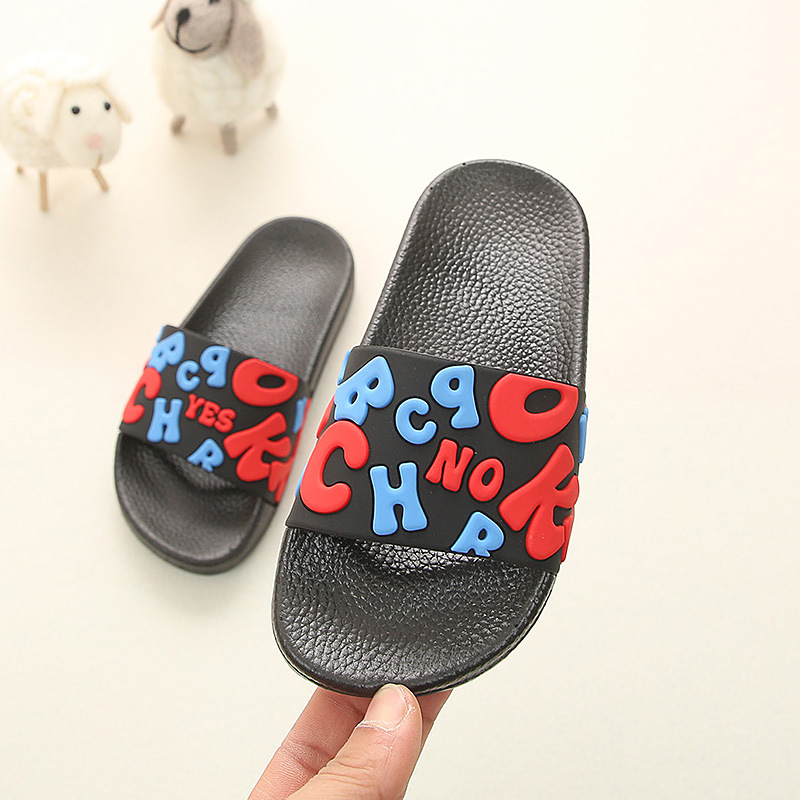 Baby Toddler Slippers Cute Cartoon Slippers Non-Slip Bath Slippers Slides Casual Flats Sandals Boys Girls Kid Summer Shoes