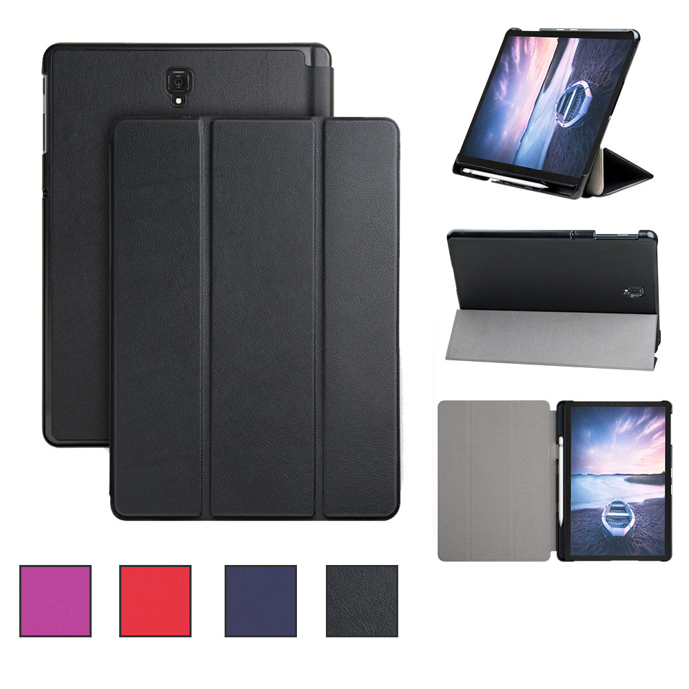 For Samsung Galaxy Tab S4 10.5 Inch 2018 Wake/Sleep Slim Stand Tablet Case Cover With Pen Holder 20J Drop Shipping