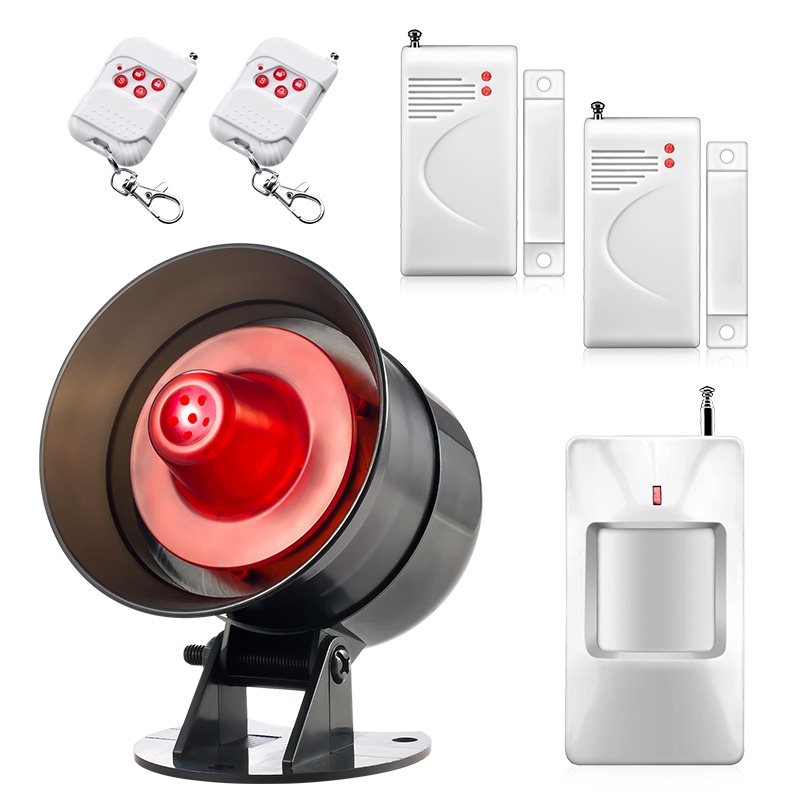 New Wireless Home Security Burglar Alarm System Loud Speaker Easy setting Simple to operate with Motion detector door magnetic