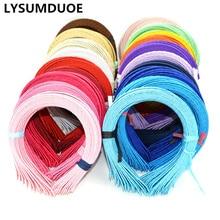 Korean Fashion Covered Hairbands Satin Headband Cute Hair Ribbon Hairband Solid Candy Color Headdress New Girls Hair Accessories