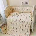 2017 New Arrived 120*70CM Baby Bed Set Soft Cotton Baby Crib Bedding Set Cute Little Girl Design Bed Linen Cot With Cheap Price