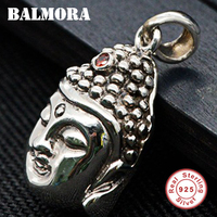 BALMORA 925 Sterling Silver Buddha Pendants for Women Men Accessories Vintage Thai Silver Pendant Jewelry High Quality SY10263