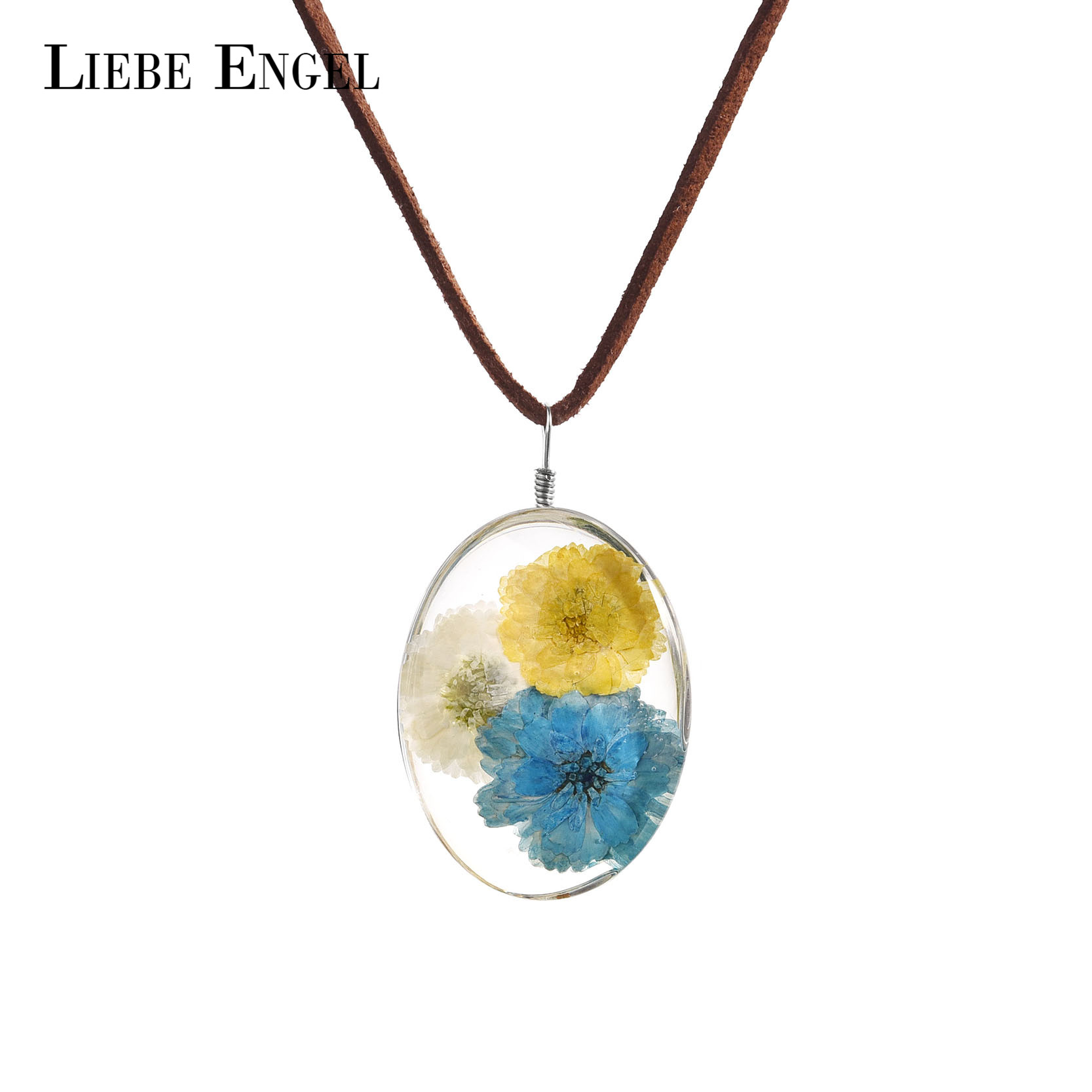 Liebe engel real hibiscus dried flower glass pendant necklace liebe engel real hibiscus dried flower glass pendant necklace sweater chain long statement necklace for women rope chain 2018 in pendant necklaces from izmirmasajfo