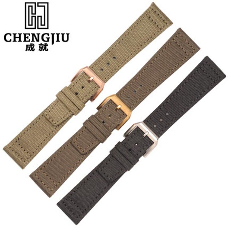 20 21 22 mm Canvas Strap For IWC/Pilot/ Portofino/Mark Nylon Watchband Men New Fashion Watch Bands Belt Pin Buckle Bracelet 20mm цена