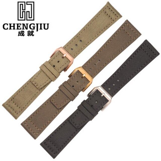 20 21 22mm bracelet en toile pour iwc/pilote/portofino/marque nylon bracelet Hommes Nouvelle Montre De Mode Bandes Ceinture Boucle Ardillon Bracelet 20mm