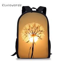 ELVISWORDS  Pretty Dandelion Print Backpack for Girls and Boys Primary Children Kids Schoolbags Elementary Teen Bookbags