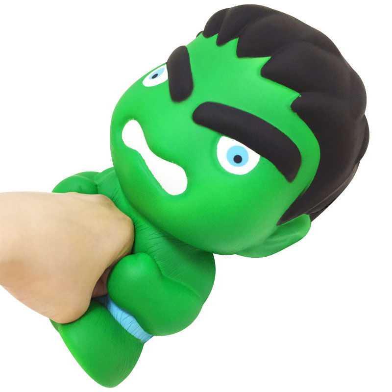Large Size Marvel Avengers Squishy Toys Angry Hulk Soft Pu Slow Rising Squishies Toys Stree Reliver Funny Doll Gift For Boys Men