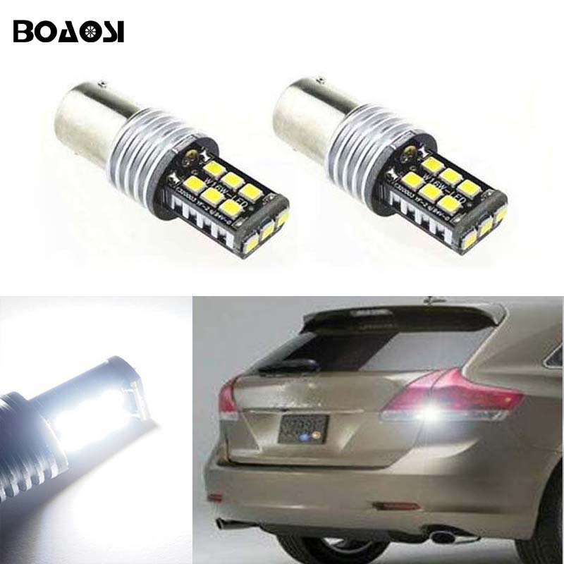BOAOSI 2x 1156 BA15S P21W Canbus NO Error Cree Chips LED Rear Reversing Tail Light Bulb For Toyota yaris 2008-2013 2 x 1156 for cree chips no error car led bulbs daytime running lights bulb for vw volkswagen jetta mk6 scirocco sharan seat