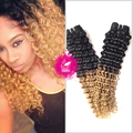 9A Malaysian Virgin Hair Curly Weave Human Hair 1 Bundle Malaysian Deep Curly Hair Weave 1B/27 Ombre Hair Extensions