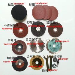 Verzending viscidium zand papier rvs plaat slijpschijf glas slijpen legering zaagblad diamond disk spanner