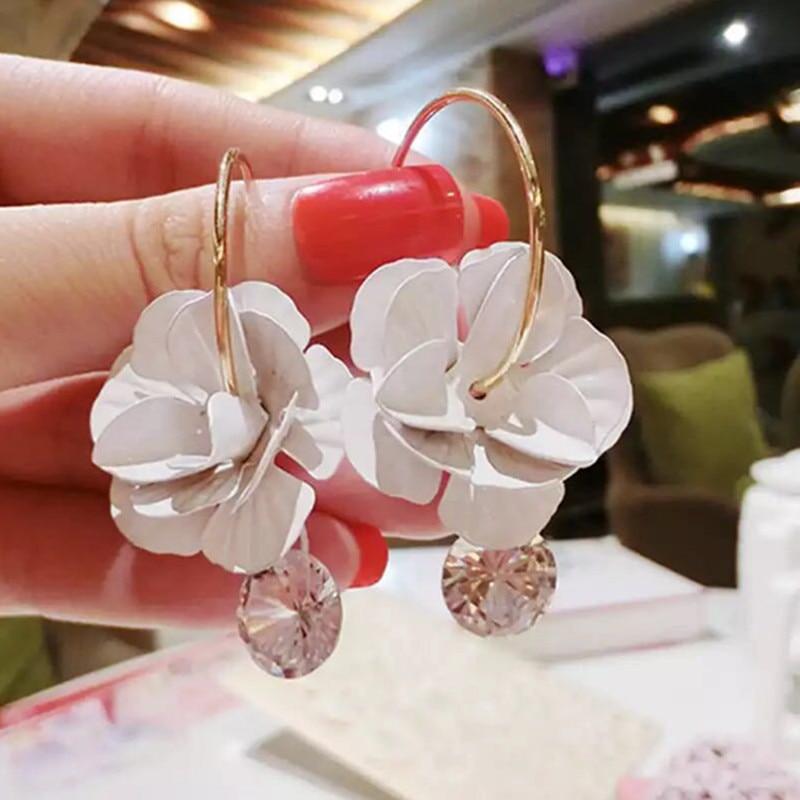 FYUAN Fashion Korean Style Big Round Hoop Earringss