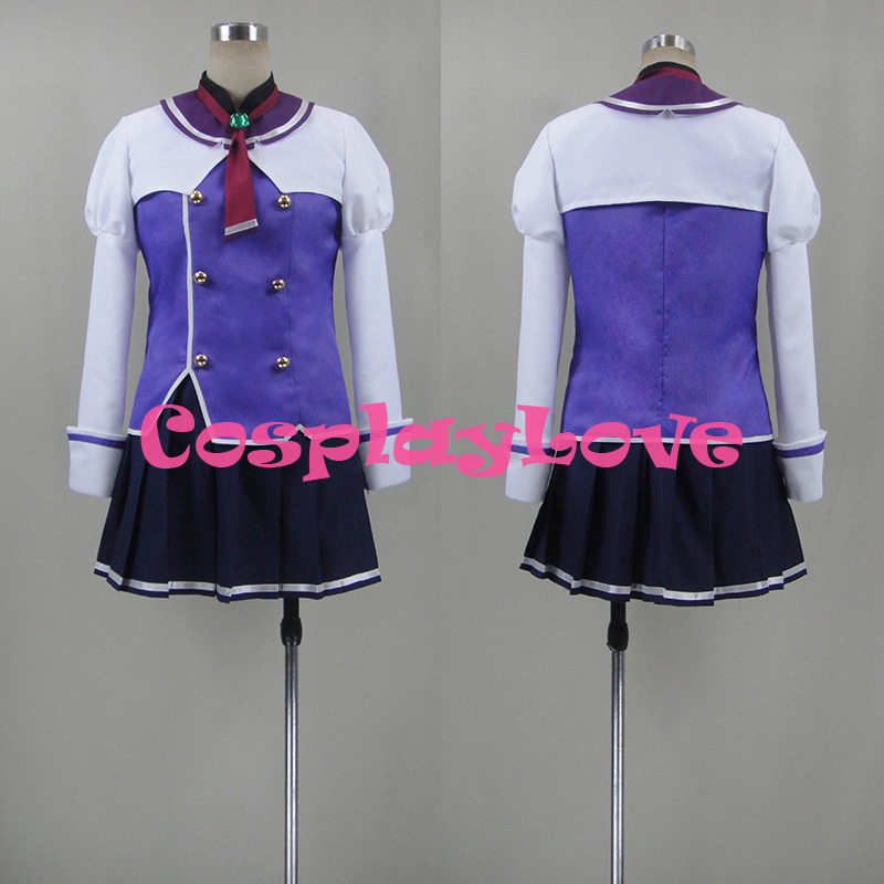 New Custom Made Japanese Anime Sky Wizards Academy Misora Whitale Cosplay Costume High Quality Christmas Halloween CosplayLove
