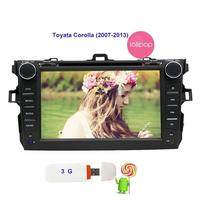 Double 2din Car Stereo For Toyata Corolla Android 5.1 GPS Car DVD Player 3D GPS Navigation Map Autoradio Bluetooth Touchscreen