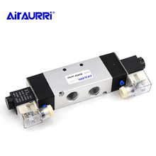 5-way 2-position solenoid valve 4V420-15 pneumatic flow regulating solenoid valve DC24V DC12V AC36V AC110 / 220V