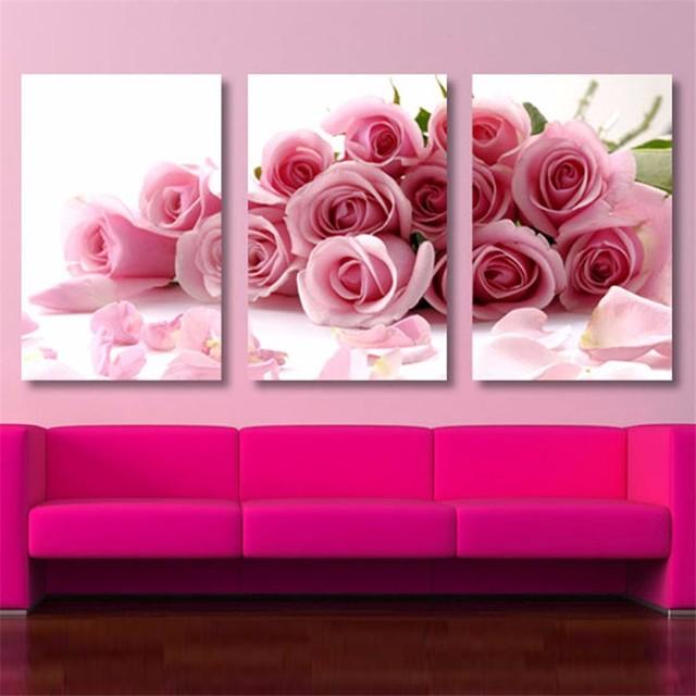 Cuadros Decoracion Dormitorio Décoratifs Modulaire Peinture Fleurs