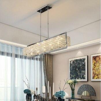 Zeitgenössische Anhänger Lampe Moderne Anhänger Lichter für Wohnzimmer Hängen Licht Esstisch Beleuchtung Kristall Anhänger Lampen LED