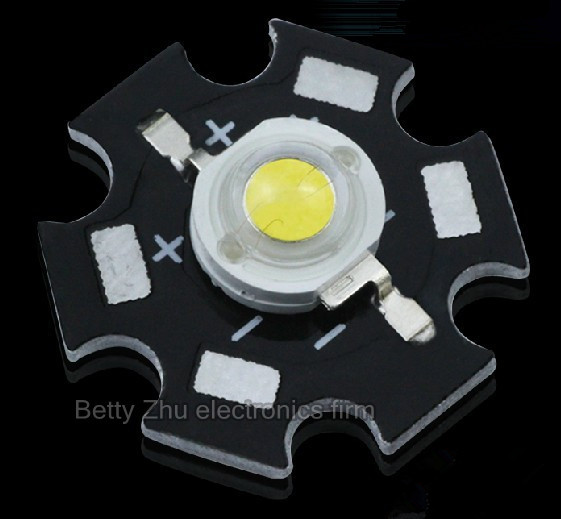 110-130 lm (lumens) 1 w high power LED lamp bead / 1 w lights, white light is white with aluminum plate 3.4- 3.6 V super bright!