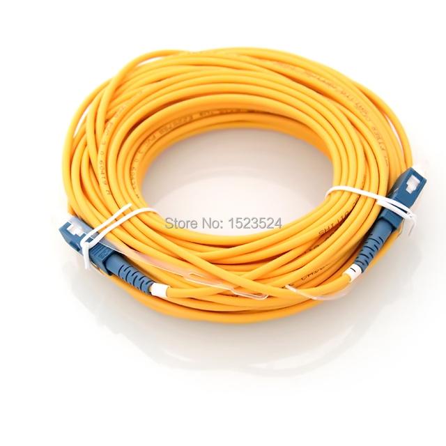 Envío Libre SM Simplex 3mm 15 M 9/125um Fibra Óptica Jumper Cable de SC/UPC-SC/UPC Patch Cord de fibra Óptica