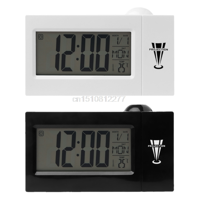Snooze Alarm Clock Night with Temperature Fashion J19  Modern Projection LED Digital