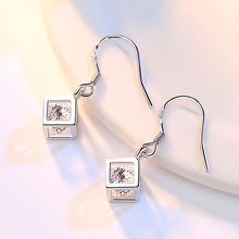 Geometric Square Love Sterling Silver Jewelry Set For Women