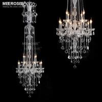 Glanz Meerosee Kristall Kronleuchter Beleuchtung Luxuriöse Lustre Cristal Kronleuchter Beleuchtung Lampadario Vintage Glanz Para Sala