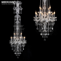 Lustre Meerosee Crystal Chandelier Lighting Luxurious Lustre Cristal Chandelier Lighting Lampadario Vintage Lustre Para Sala