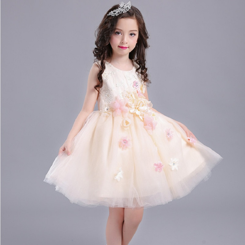 Summer 2017 New Girl Dress Baby Princess Dresses Flower Girls Dresses For Party And Wedding Kids children Clothing 4 6 8 10 year new kids princess dress for girls dresses for summer party dress wedding flower girl dress girls clothing gift 6 colors