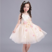 лучшая цена Summer 2017 New Girl Dress Baby Princess Dresses Flower Girls Dresses For Party And Wedding Kids children Clothing 4 6 8 10 year